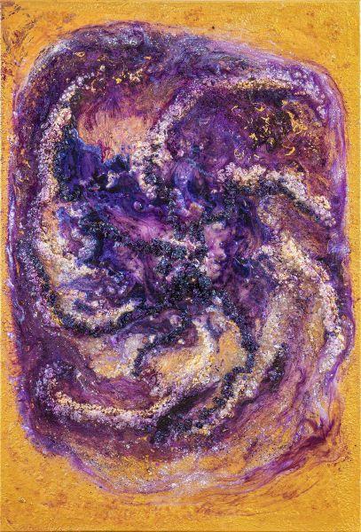 Violette Flamme - 120 x 80 cm