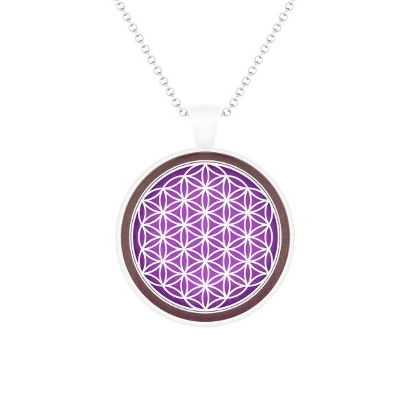 Prana Amulett Blume des Lebens (Silber)